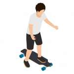 skate electrico, longboard, monopatin electrico